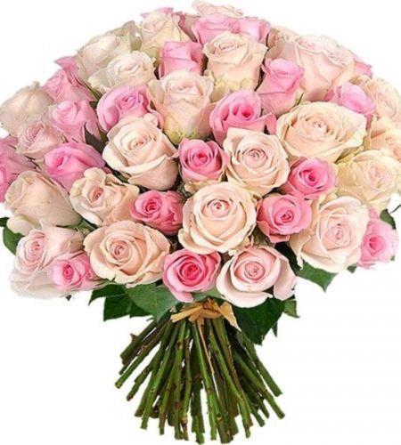 """Bukiet """"50 pastelowych róż"""""""