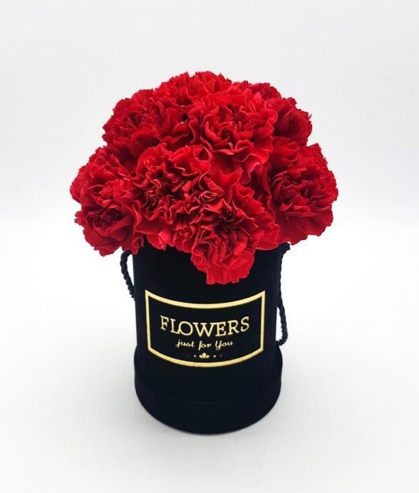 """Box kwiatowy """"Czerwona elegancja mini"""""""