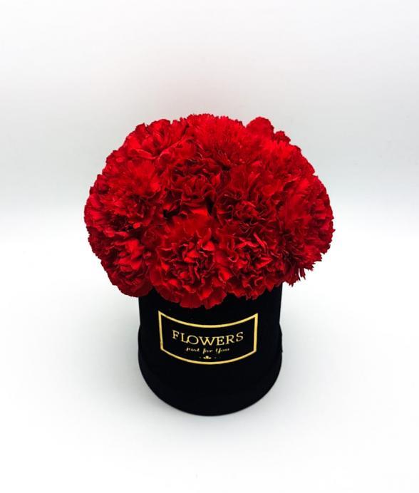 """Box kwiatowy """"Czerwona elegancja midi"""""""