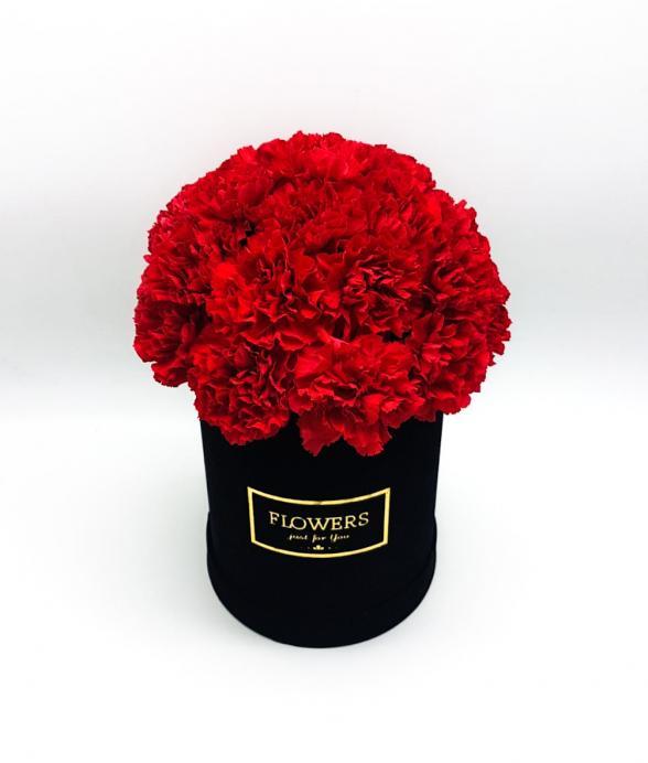 """Box kwiatowy """"Czerwona elegancja maxi"""""""