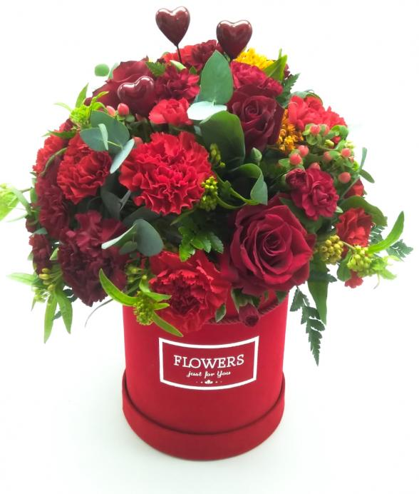 """Box kwiatowy """"Czerwone uczucie maxi"""""""