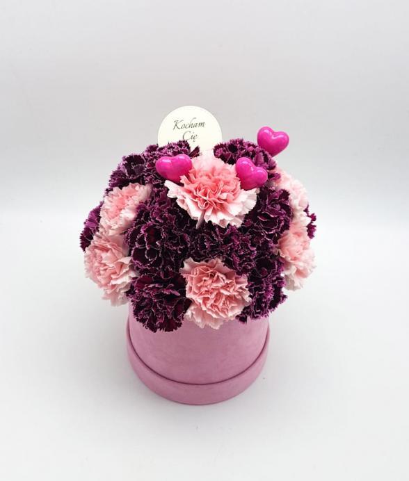 """Box kwiatowy """"Różowelove mini"""""""