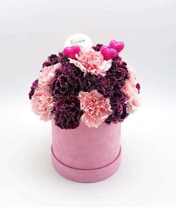 """Box kwiatowy """"Różowelove midi"""""""