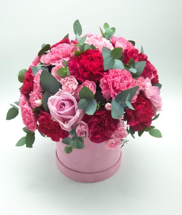"""Box kwiatowy """"Słodki Róż"""""""