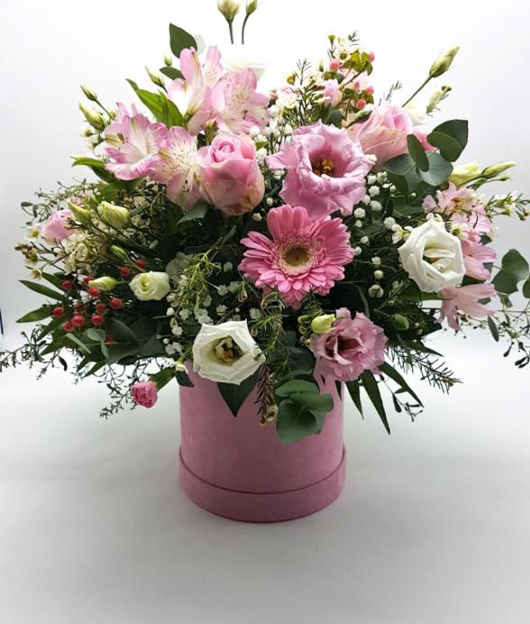 """Box kwiatowy """"Pudrowy"""""""