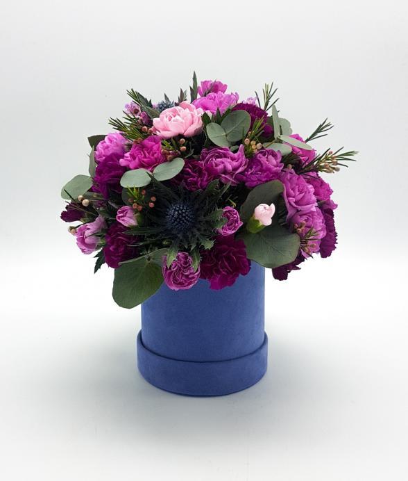 """Box kwiatowy """"Dark Blue"""""""
