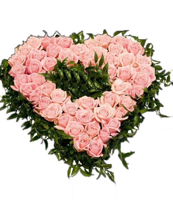 """Wieniec pogrzebowy """"Różowe serce"""""""