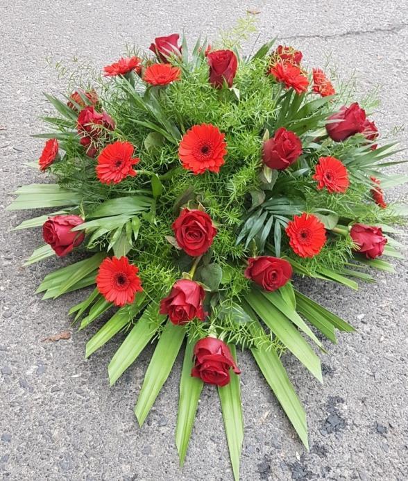 """Wieniec pogrzebowy """"Czerwone kwiaty"""""""
