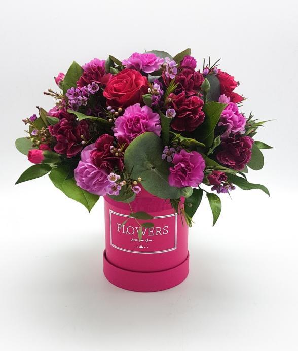 """Box kwiatowy """"Różowo malinowy"""""""