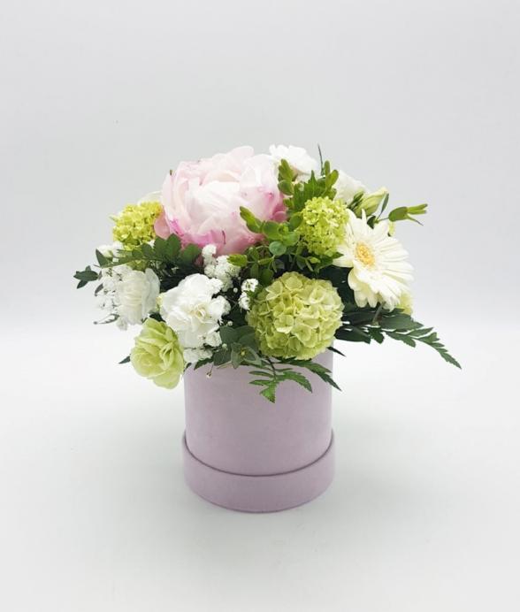 """Box kwiatowy """"Piwonia w różu mini"""""""