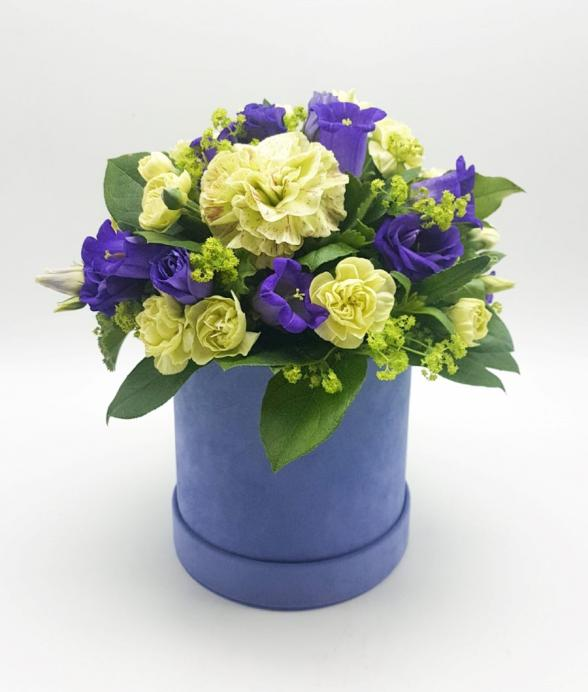 """Box kwiatowy """"Eustoma"""""""