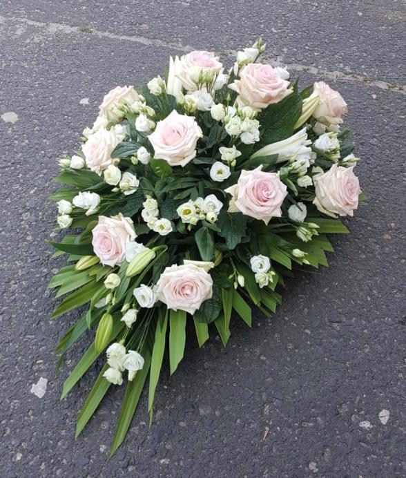 """Wieniec pogrzebowy """"Delikatny róż"""""""