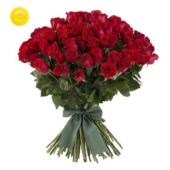 Bukiet 100 średnich róż w bukiecie