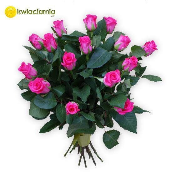 Bukiet z różowych róż